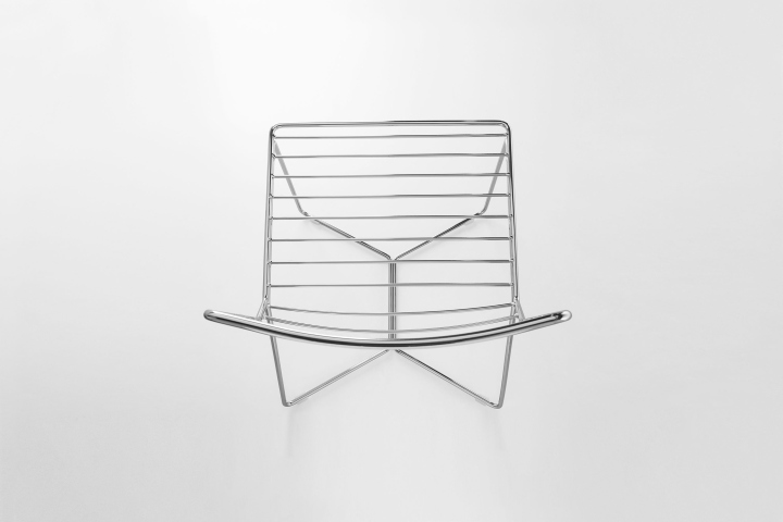 Необычный металлический стул Antia