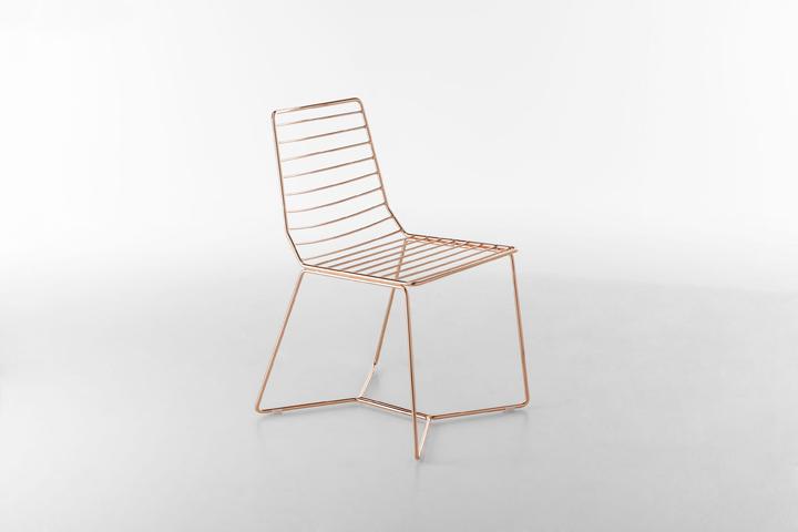 Шикарный металлический стул Antia