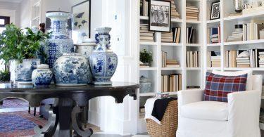 Используя в дизайне интерьера синий цвет, воссоздать портрет викторианской эпохи