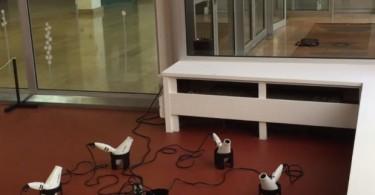 Антуан Терьё: кинетическая инсталляция из фенов для волос