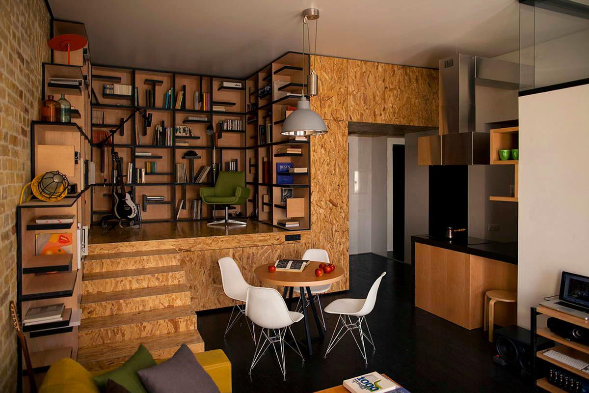 Бесподобный песочный и черный цвет в интерьере маленькой квартиры