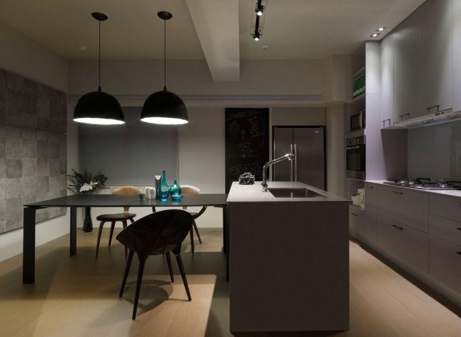 Дизайн интерьера кухни в стиле эклектического минимализма
