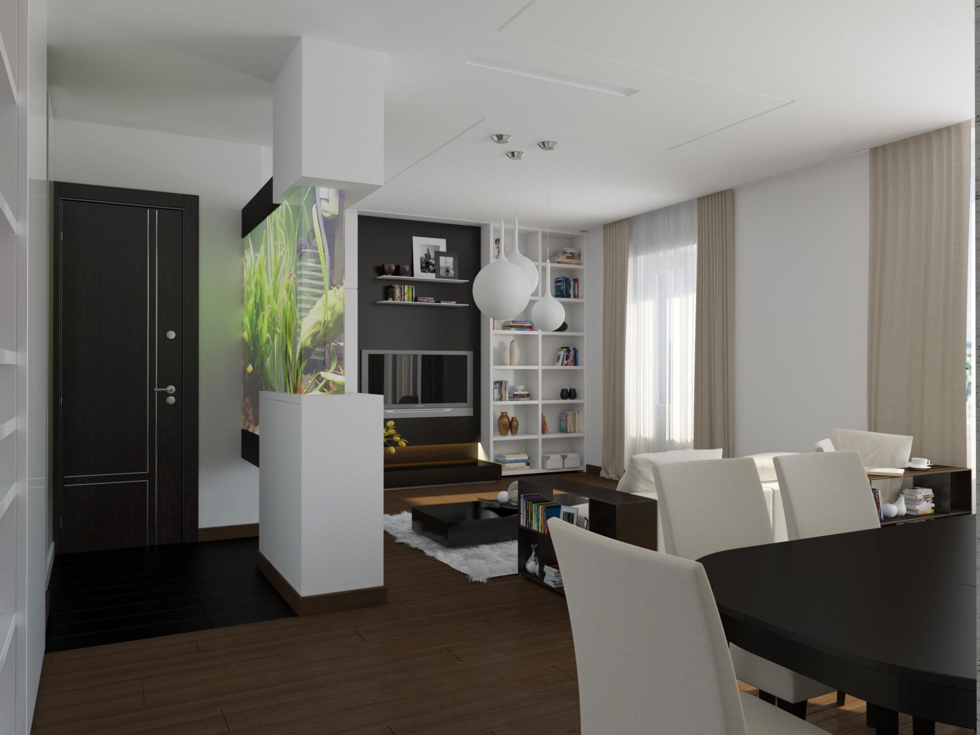Чудесное оформление интерьера квартиры в стиле минимализм