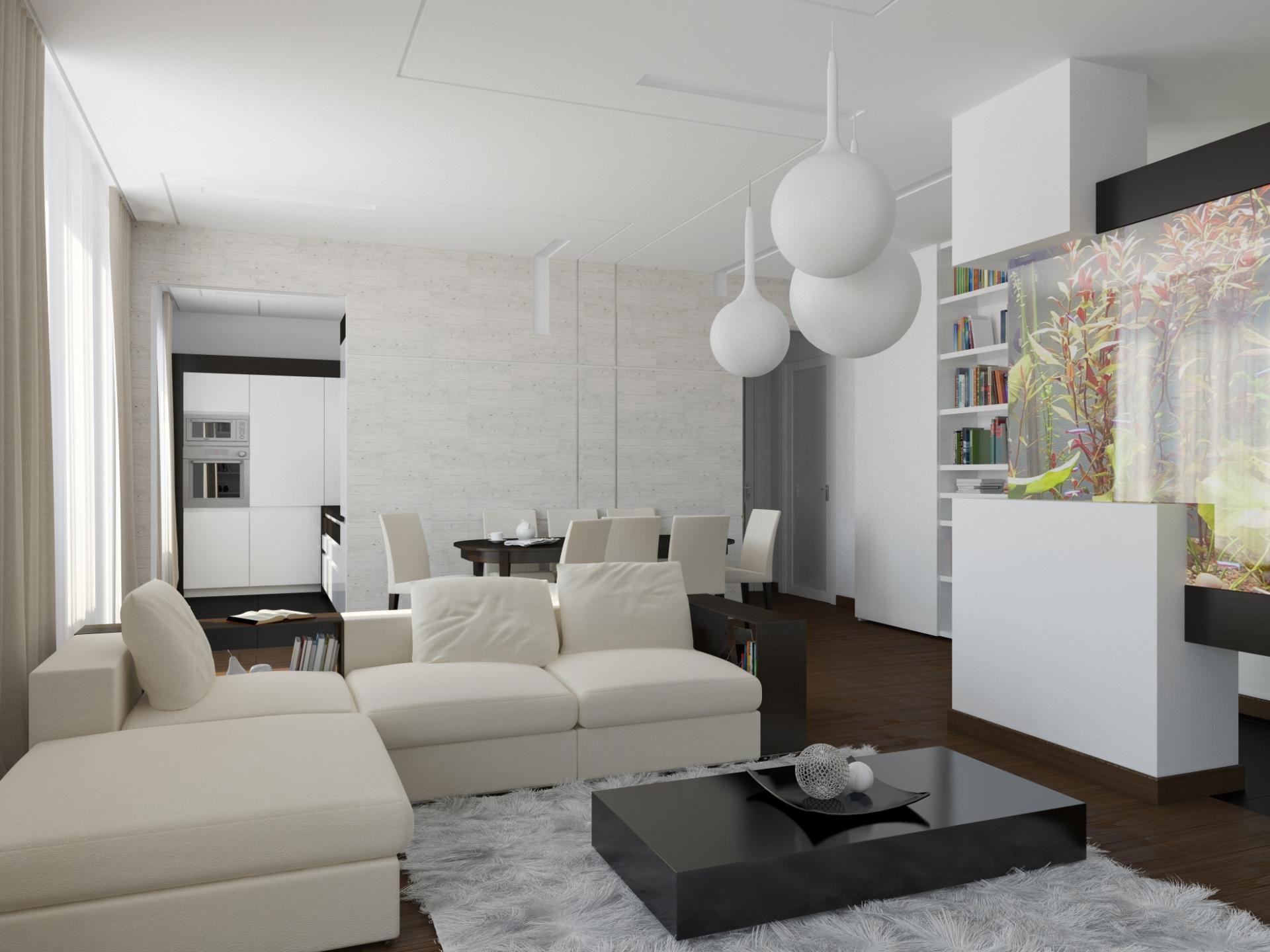 Прекрасное оформление интерьера квартиры в стиле минимализм