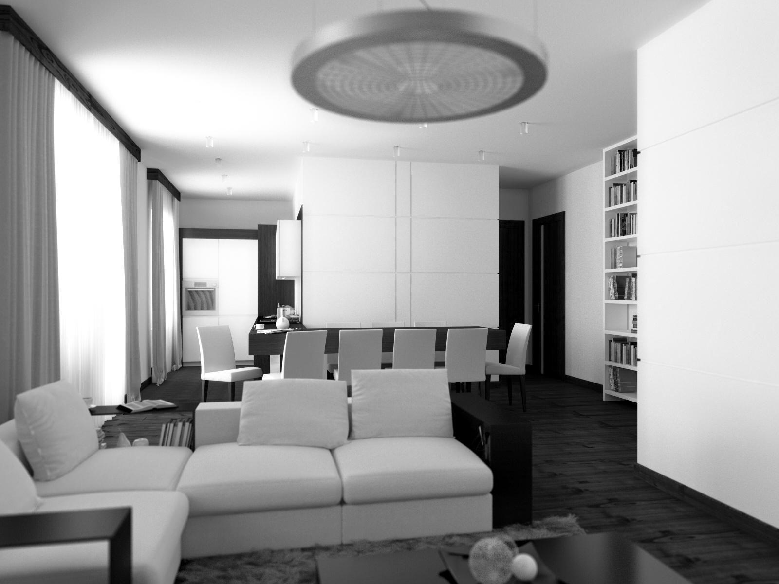 Очаровательное оформление интерьера квартиры в стиле минимализм