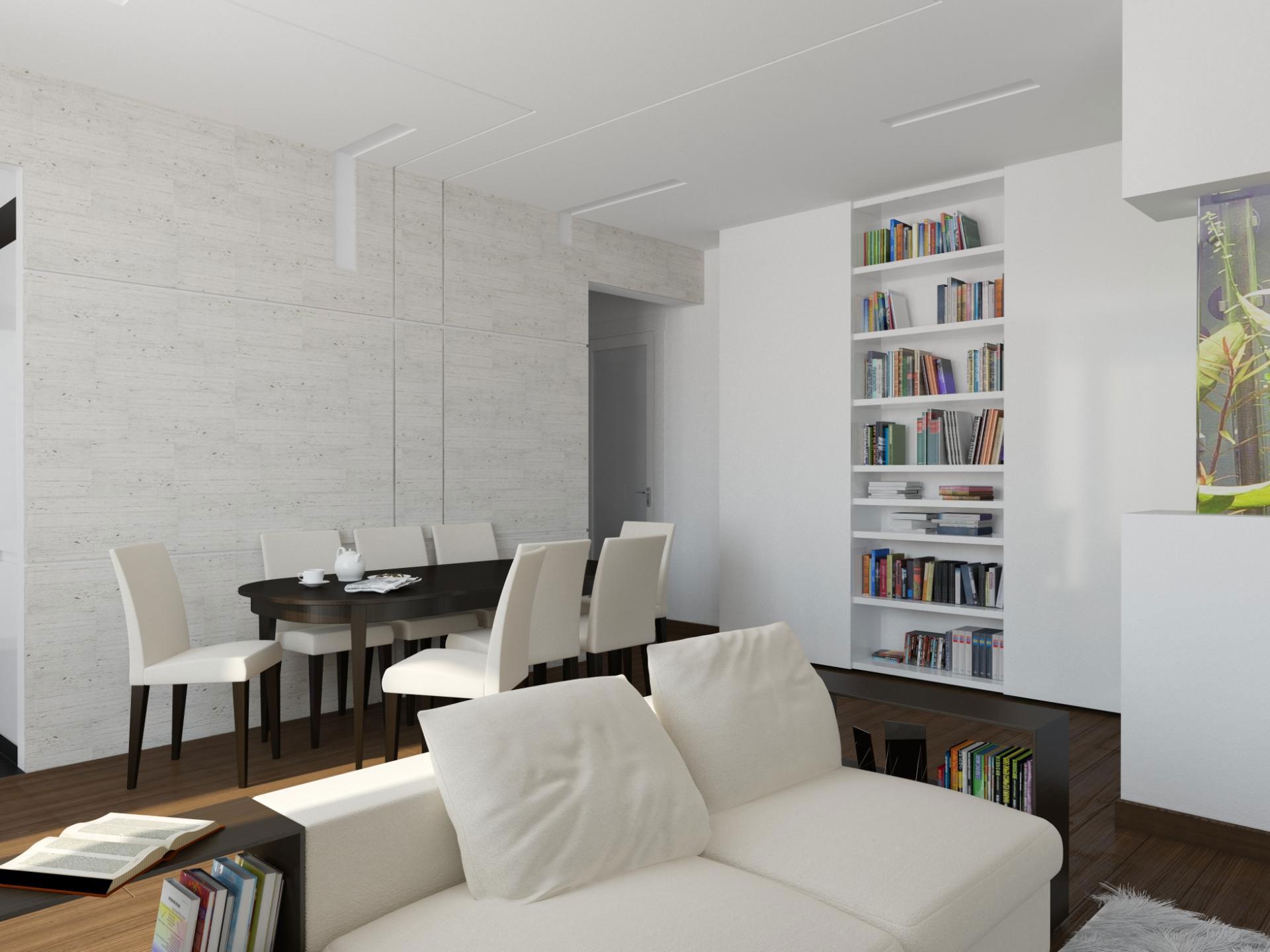 Восхитительное оформление интерьера квартиры в стиле минимализм