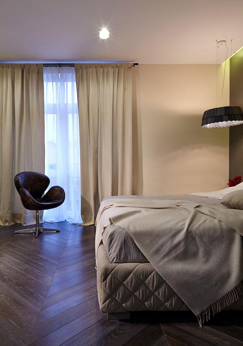 Спальня роскошных апартаментов в Киеве