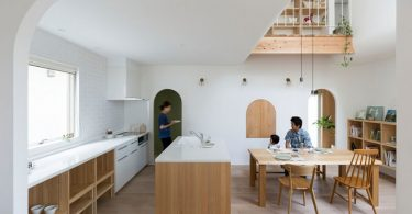 Арки в интерьере дома в Японии