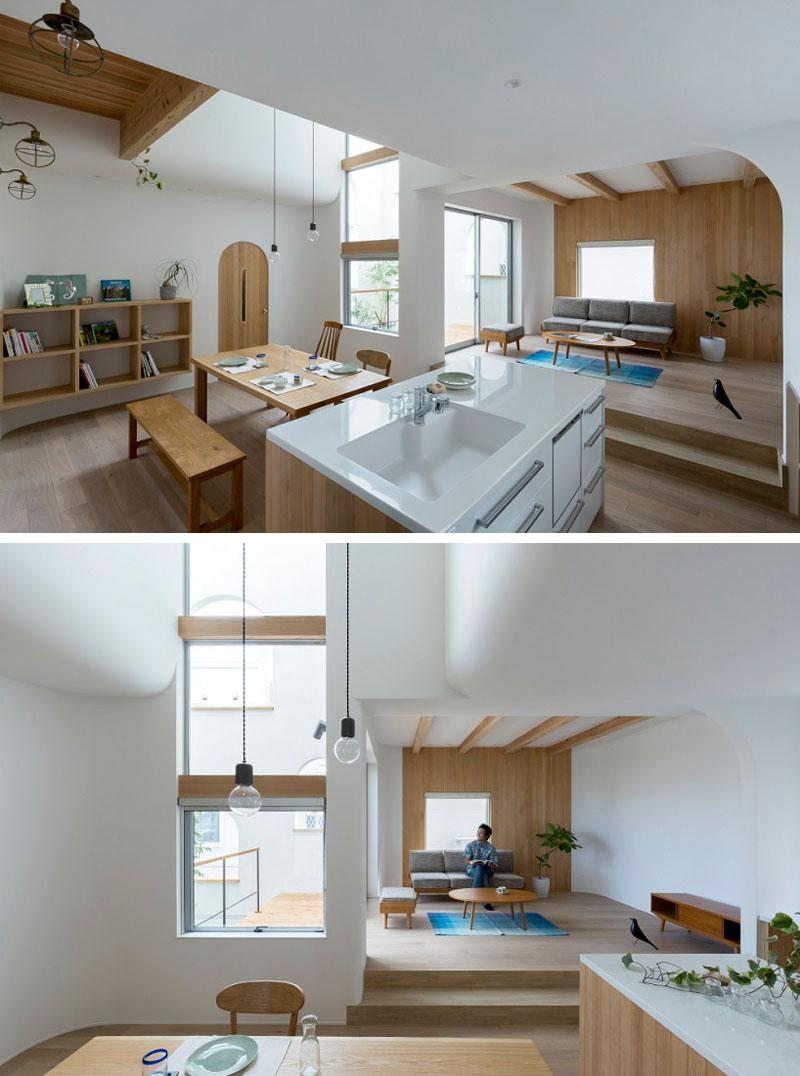 Арки в интерьере дома: вид из кухни