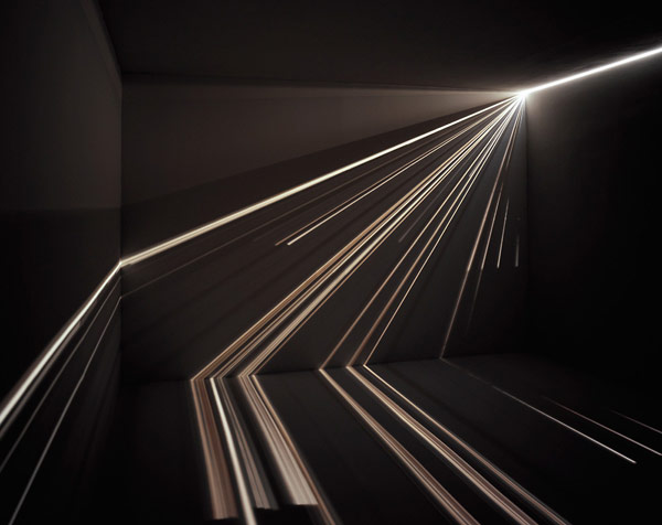 Красивая световая инсталляция от Chris Fraser