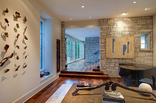 Современная гостиная с элементами арт-деко искусства