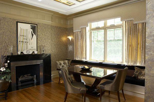 Арт-деко столовая с элегантной мебелью