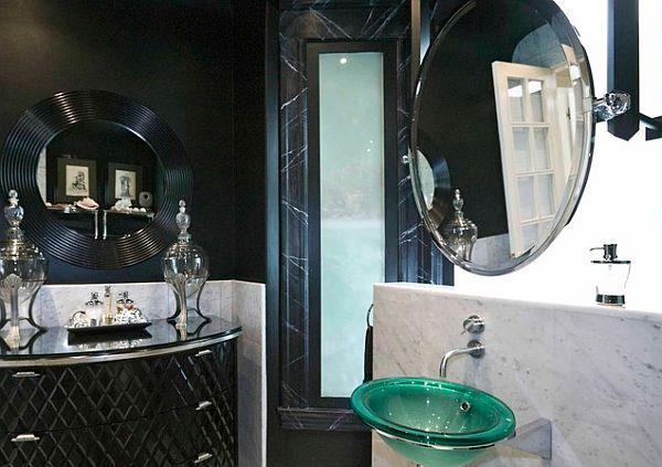 Шикарный дизайн арт-деко ванной комнаты