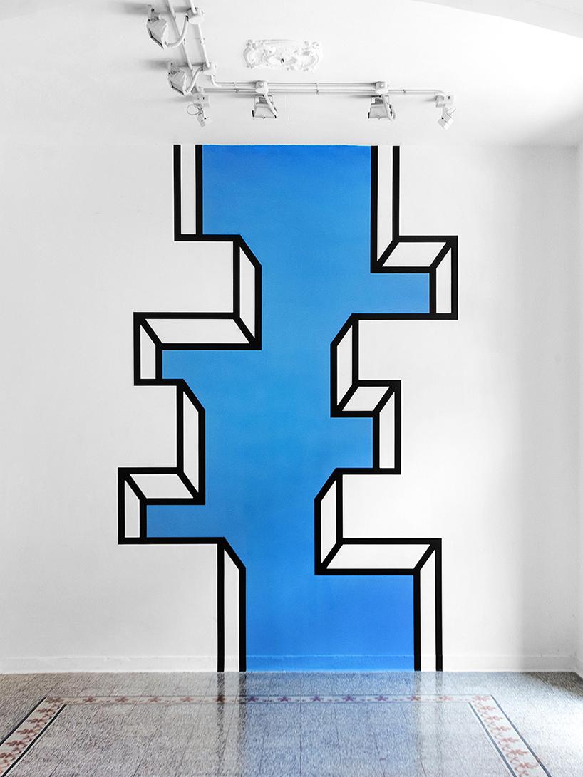 Красивое оформление стены 3D инсталляцией