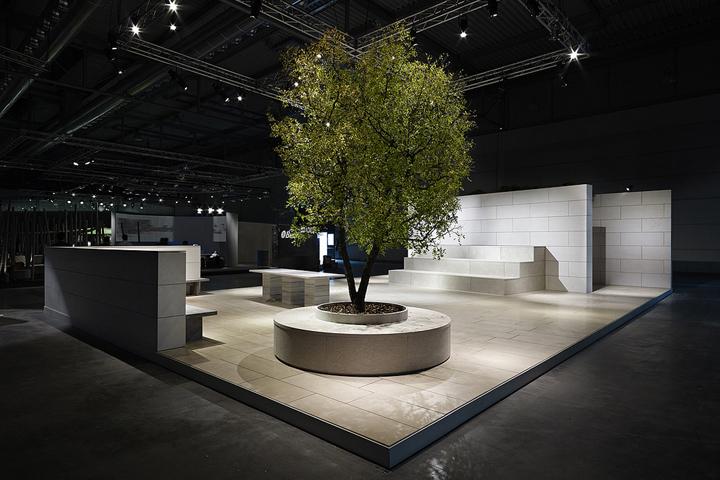 Впечатляющие возможности мраморной отделки - арт-инсталляция La Piazza от Aldo Cibic, Италия