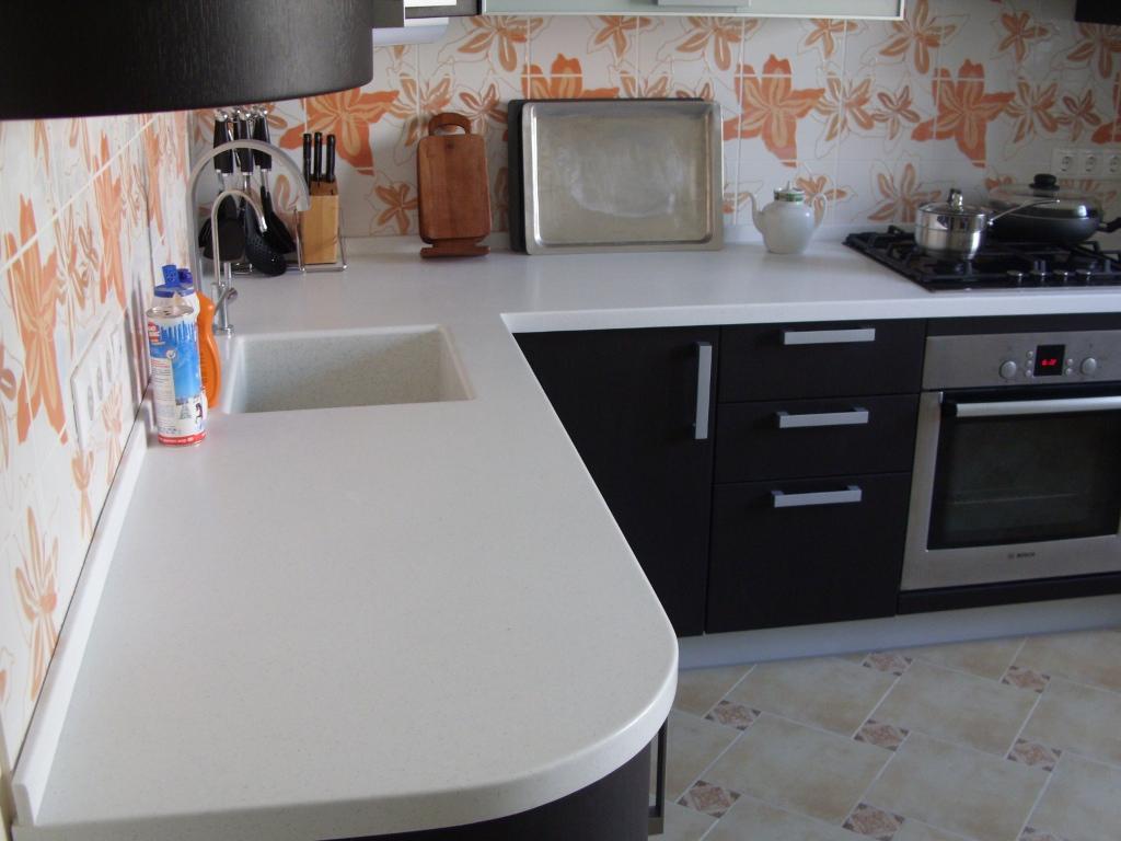 Акриловые столешницы для кухни фото