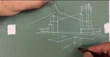 Без линейки: остроумный способ черчения трёхмерных объектов от архитектора Резы Асгарипура