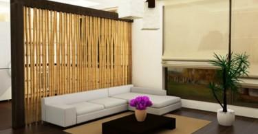 Интерьер гостиной в азиатском стиле