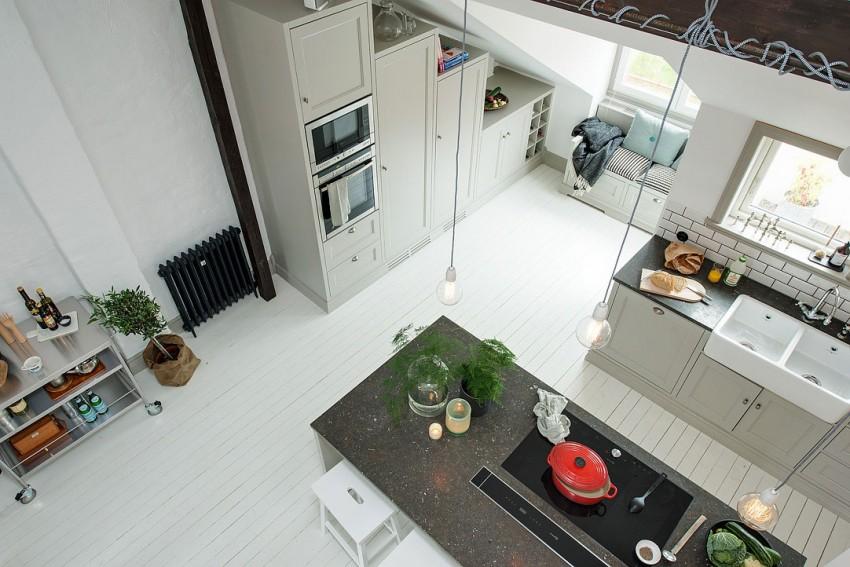 Уникальный дизайн интерьера кухни