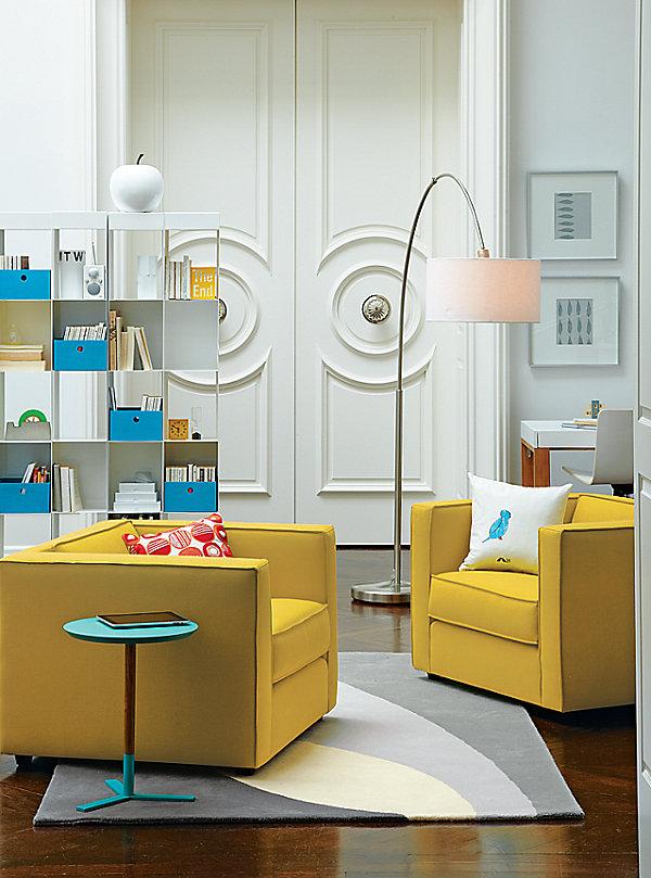 Ярко-жёлтые кресла