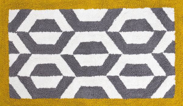 Сочетание серого и жёлтого в геометрических узорах