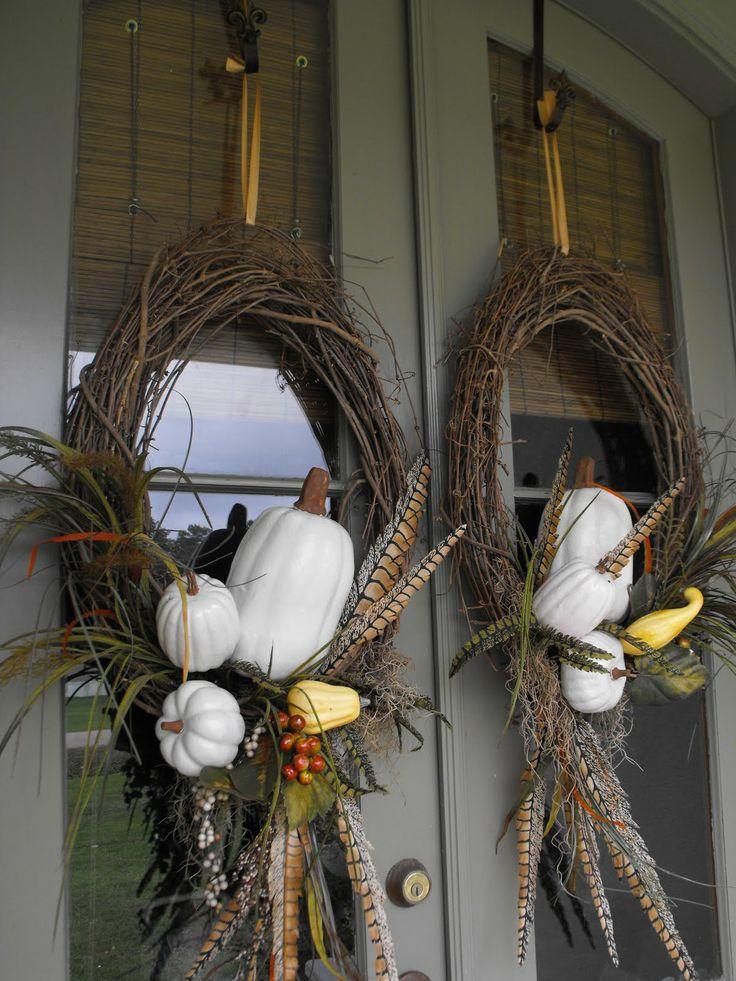 Ветки в качестве венка для дверей