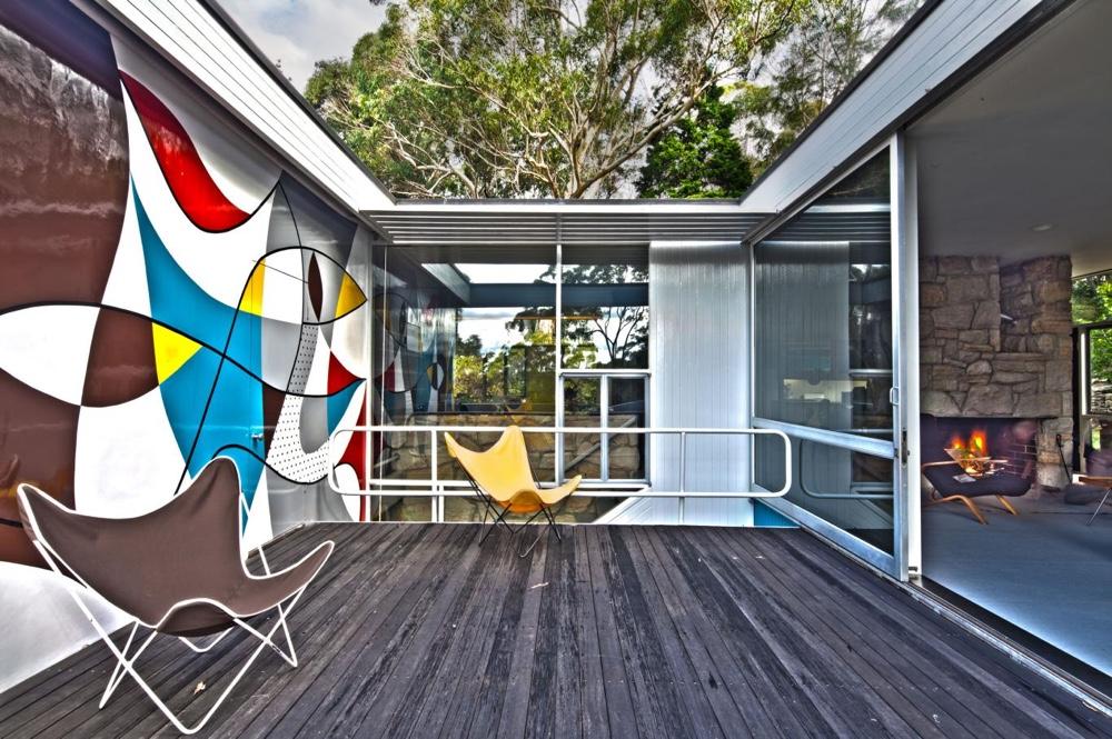 Rose Seidler House австралийского дизайнера - яркие цвета и натуральные материалы в отделке