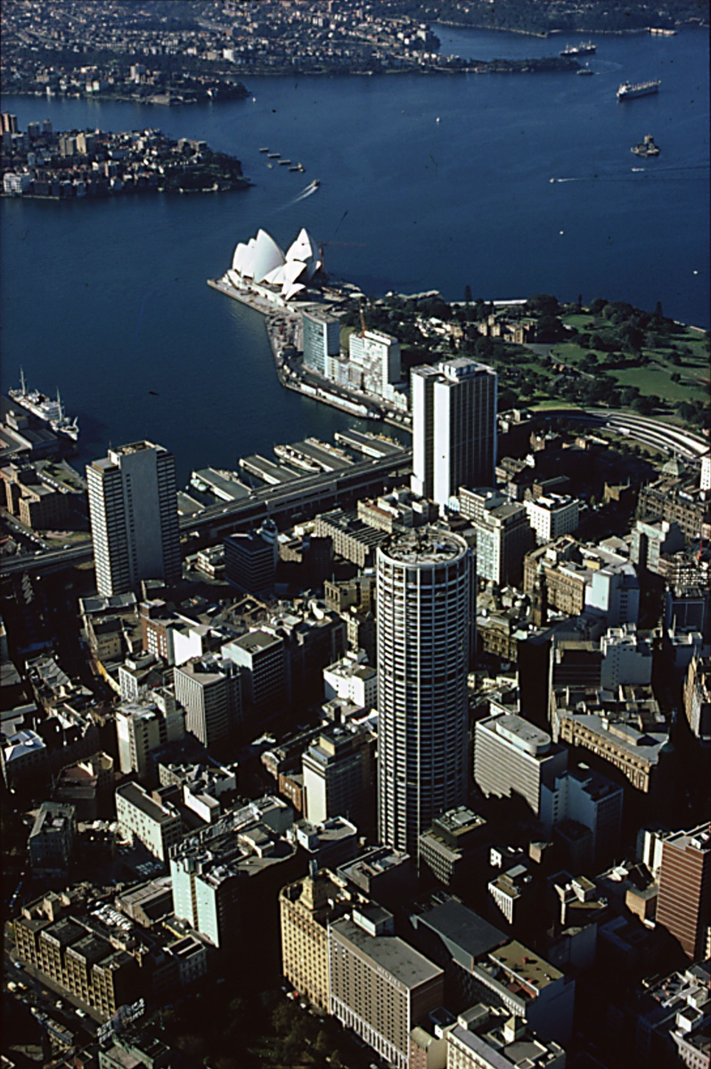 Australia Square - первый небоскреб Австралии спроектированный Гарри Сайдлером