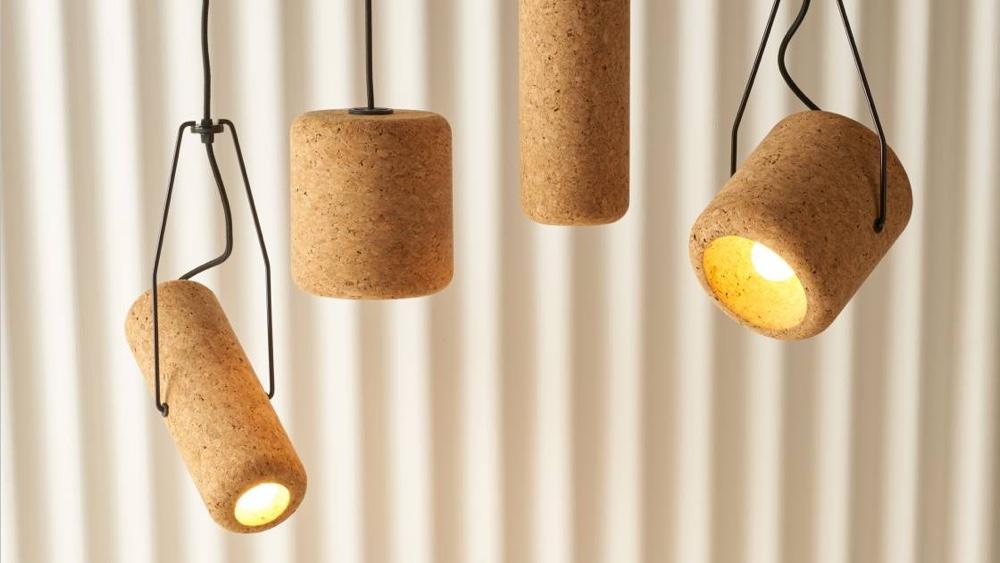 Светильники Corker из пробки от австралийского дизайнера Max Harper
