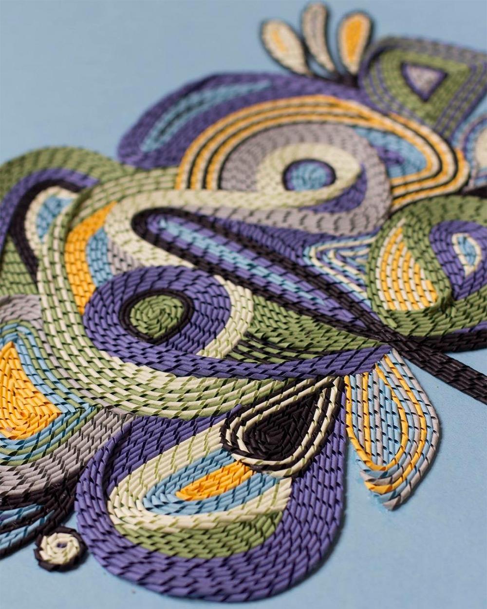 Невероятная техника плетения из бумаги: затейливые гобелены от Гюнжан Айлавади