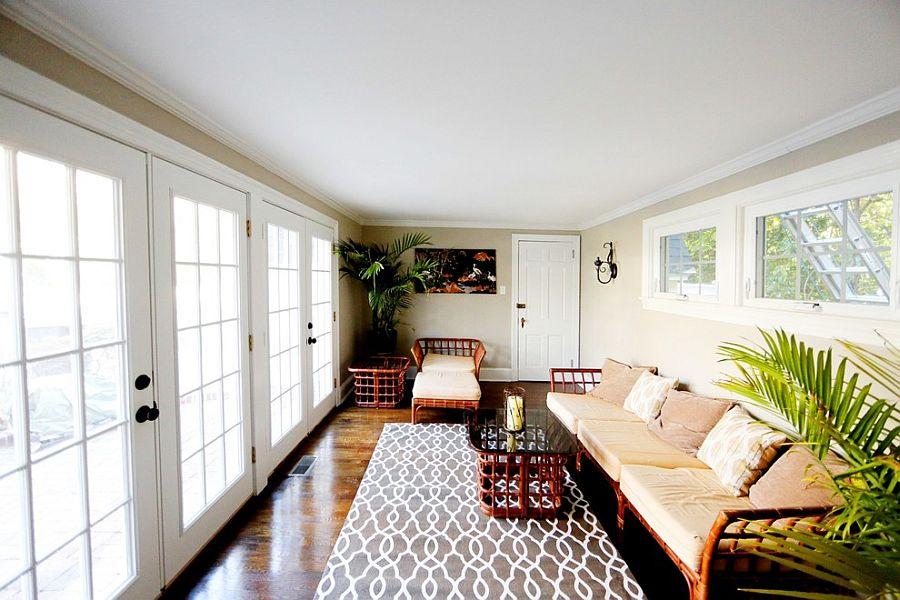 Мебель из бамбука в интерьере террасы в азиатском стиле