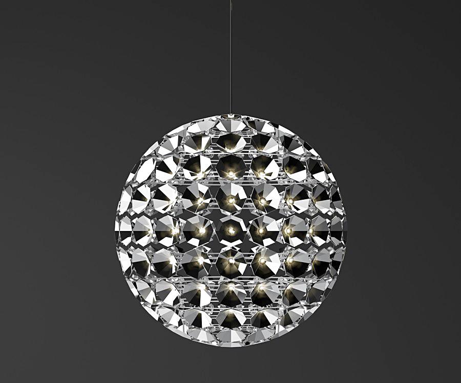 Уникальный круглый подвесной светильник от Daniel Becker
