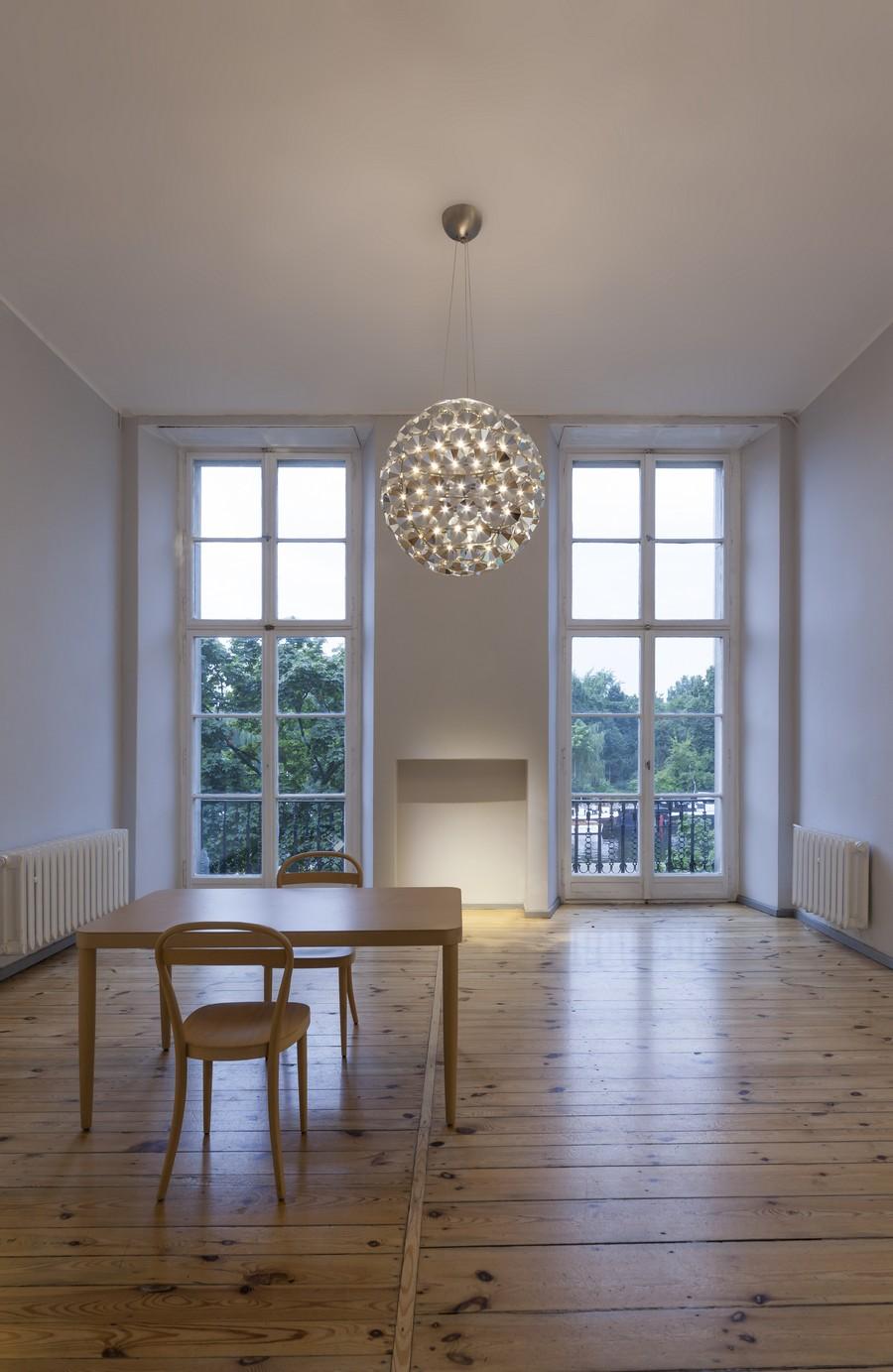 Поразительный круглый подвесной светильник от Daniel Becker
