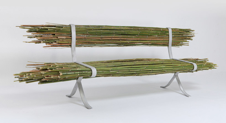 Just a bundle of bamboo: the original bench from Israeli designer Gala Ben-Arava
