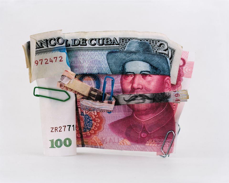 Оригинальный коллаж из денежных купюр от Philippe Petremant