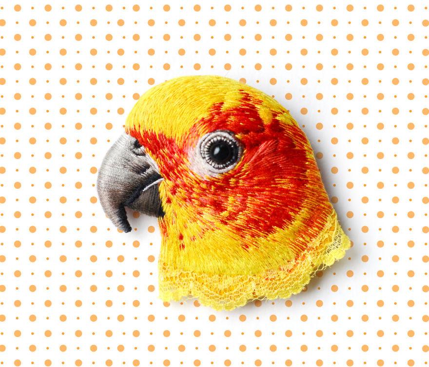 Паулина Бартник: вышитые миниатюры с гиперреалистичным эффектом