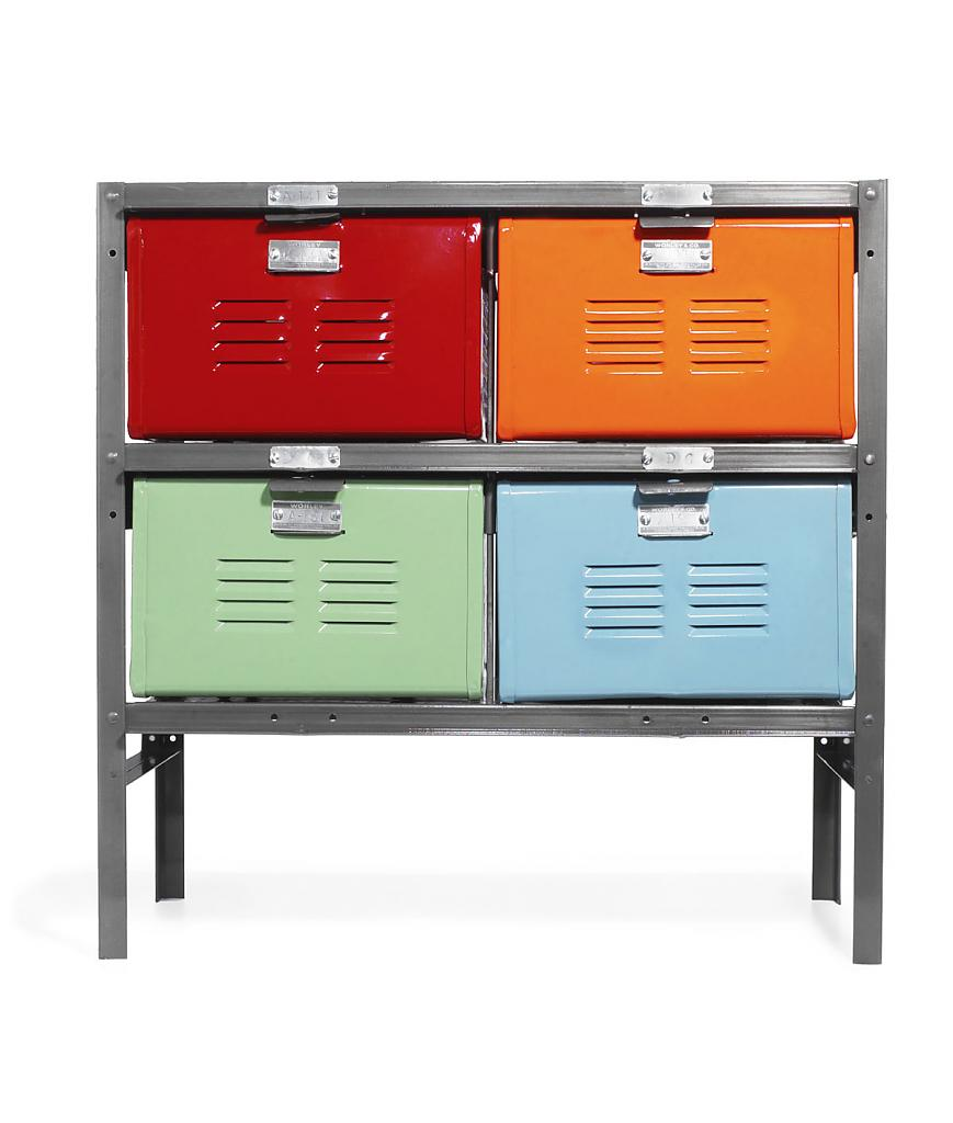 Real teenagers are accustomed to order from their youth - the original storage system in retro style