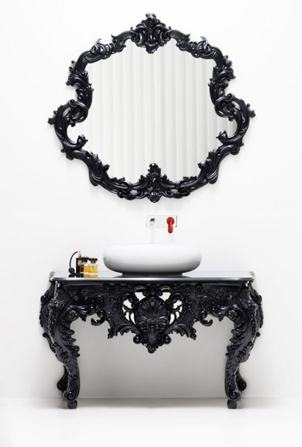 Смесь современного стиля и модерна в ванной комнате