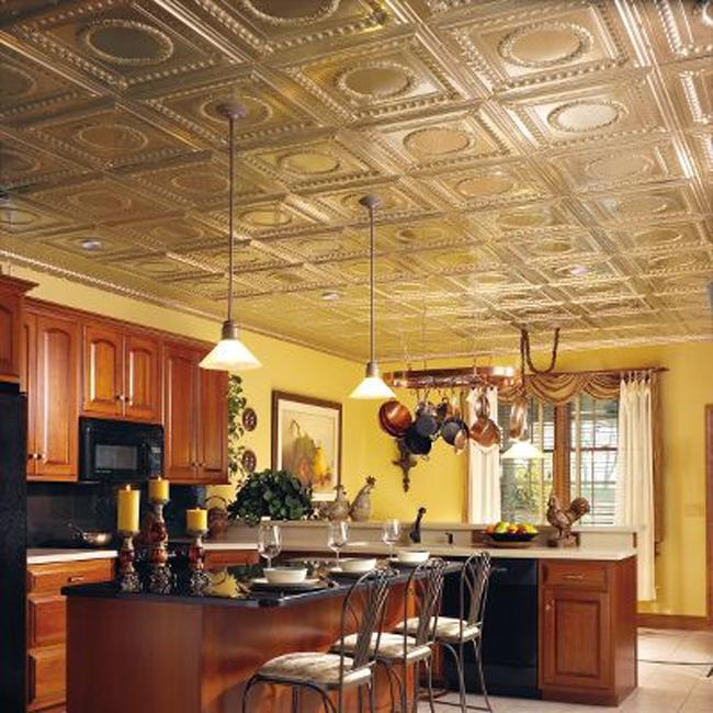 Декорирование потолка металлической плиткой Metallaire tiles от от Armstrong