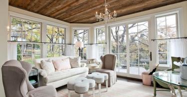 Дизайн потолка в интерьере комнаты