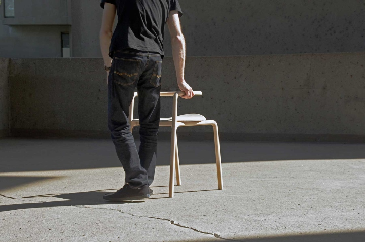 Необычный деревянный стул The Funambule от Loïc Bard & Nicolas Granger