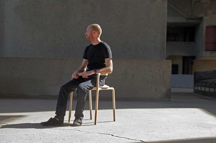 Оригинальный деревянный стул The Funambule от Loïc Bard & Nicolas Granger