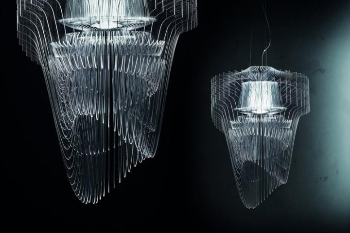 Подвесные светильники Transparent от Zaha Hadid