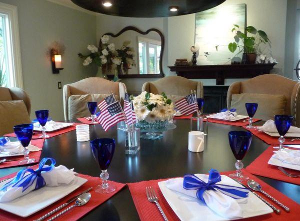 Необычные цвета американского флага в интерьере
