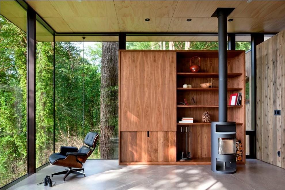 Открытый интерьер в современном стиле