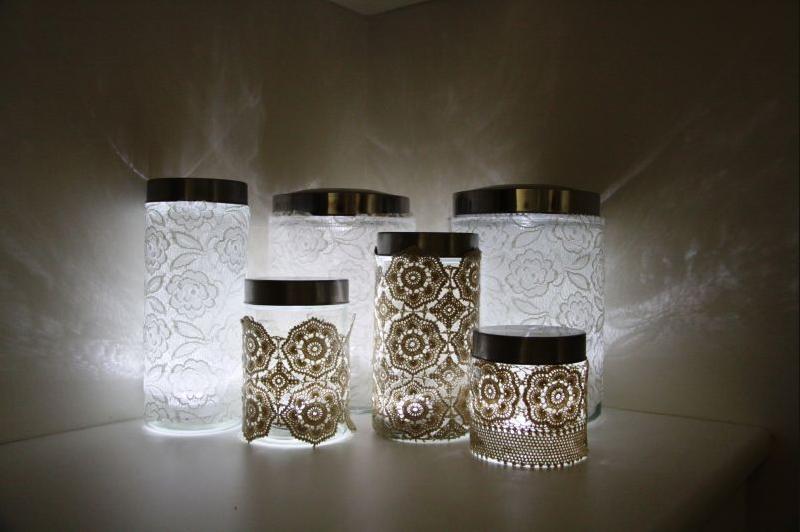 Светильники в виде баночек