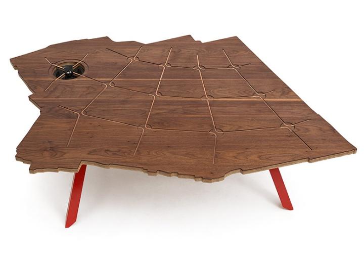 Деревянная столешница стола от Эзри Тарази