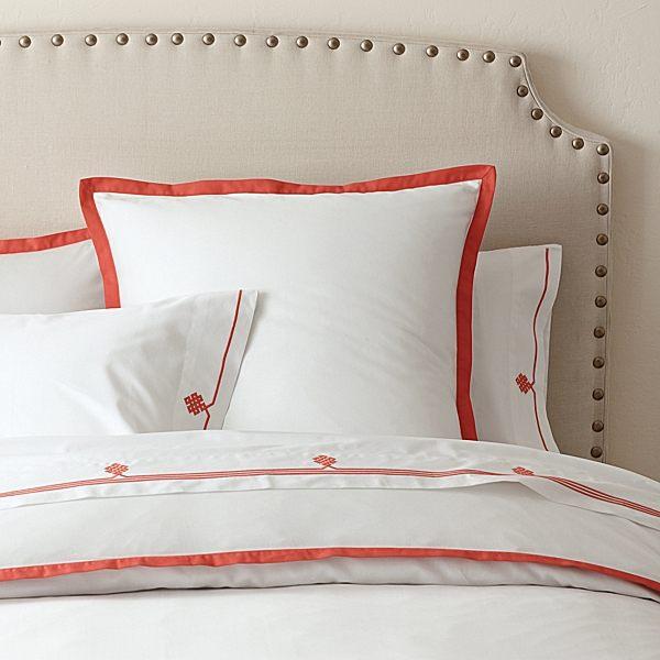 Бело-оранжевое постельное белье