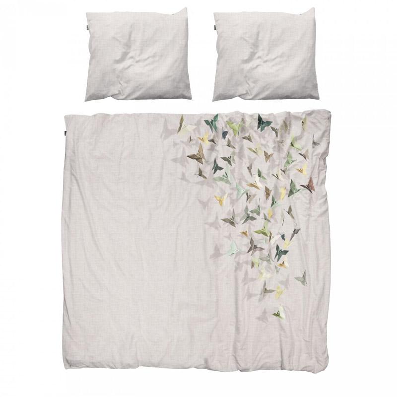Белое постельное белье с птичками от SNURK