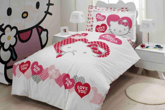 Постельное белье в стиле Hello Kitty